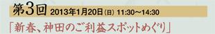 第3回 2013年1月20日(日) 11:30〜14:30「新春、神田のご利益スポットめぐり」